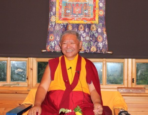 Rinpoche at Bosham House July 2015